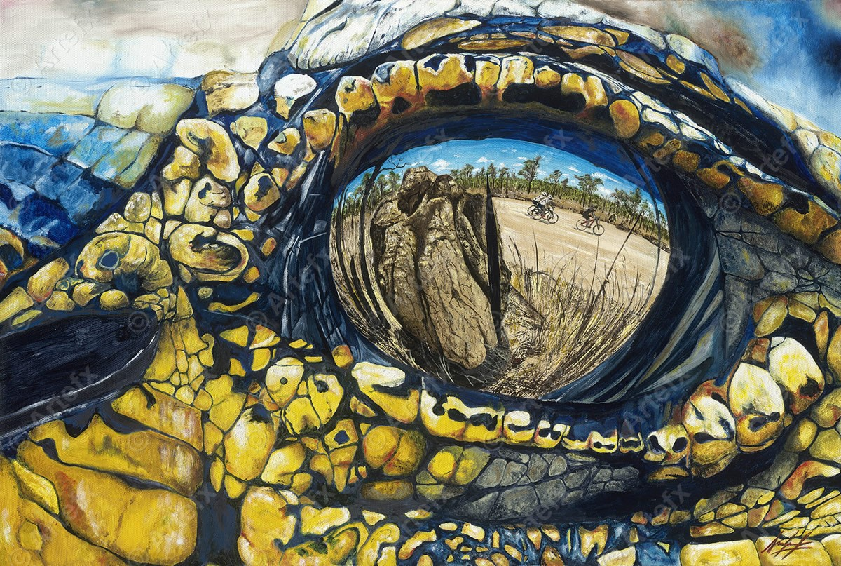 Local Australian artist and Croc finisher creates Anniversary Paintings