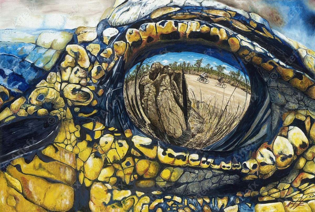 Local Australian artist and Croc finisher creates Anniversary Paintings